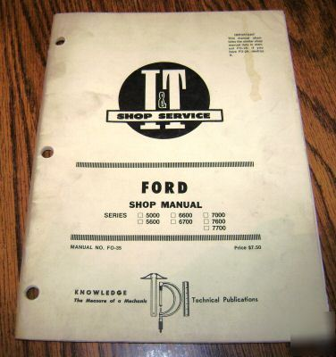 ford 5000 thru 7700 tractor i t shop repair manual 7600 rh recycled parts com ford 5000 workshop manual free ford 5000 workshop manual
