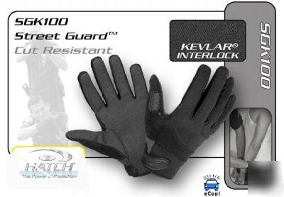 Hatch street guard kevlar search gloves -no logo xs