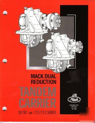 Mack 92 93 112 113 diff workshop service repair manual