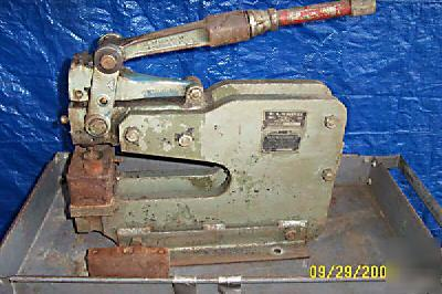Wa whitney 10 ton deep throat hand punch press