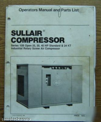 Sullair 25 Hp Industrial Air Compressor W Enclosure