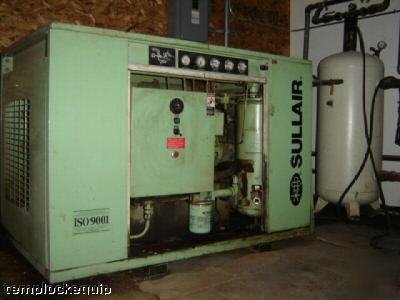 Sullair 25 Hp Industrial Air Compressor W Enclosure