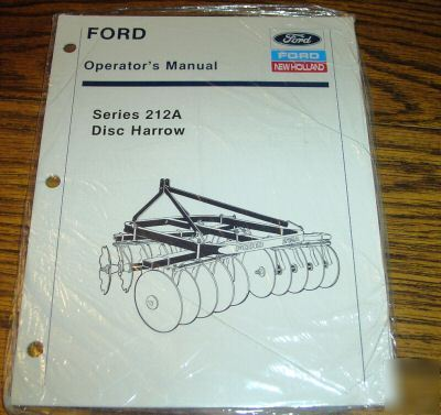 Ford Disc Harrow Parts http://www.recycled-parts.com/Recycling-Codes-/Metal-/Bronze-/Ford-212A-disc-harrow-operator-s-manual-book-catalog.cgi